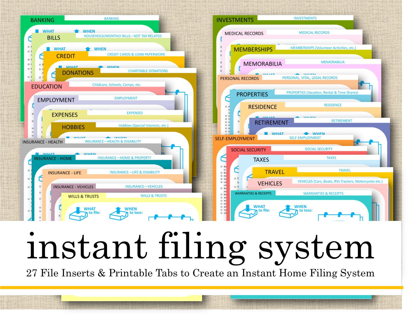 Lifes Lists Instant Filing System Now Available Livable Solutions