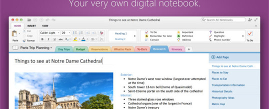 Organizing Tip of the Day:  Explore Microsoft OneNote