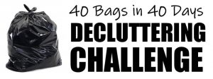 Join Us for Our 40 Bags in 40 Days 2019 Decluttering Challenge!