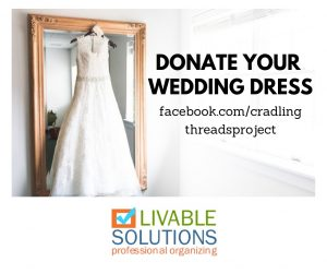Day Eight: 40 Bags in 40 Days Decluttering Challenge - Donate Your Wedding Dress