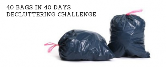 Day Forty: 40 Bags in 40 Days Decluttering Challenge – Accomplishment