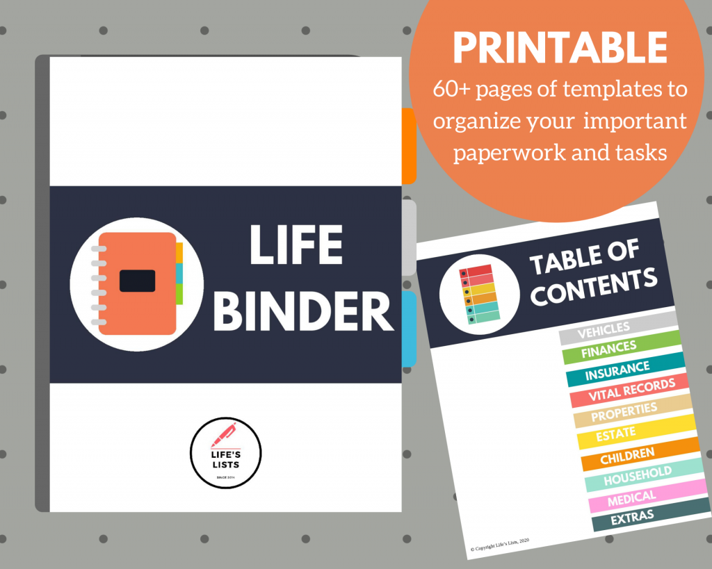 Organize Your Important Household Information with A Life Binder