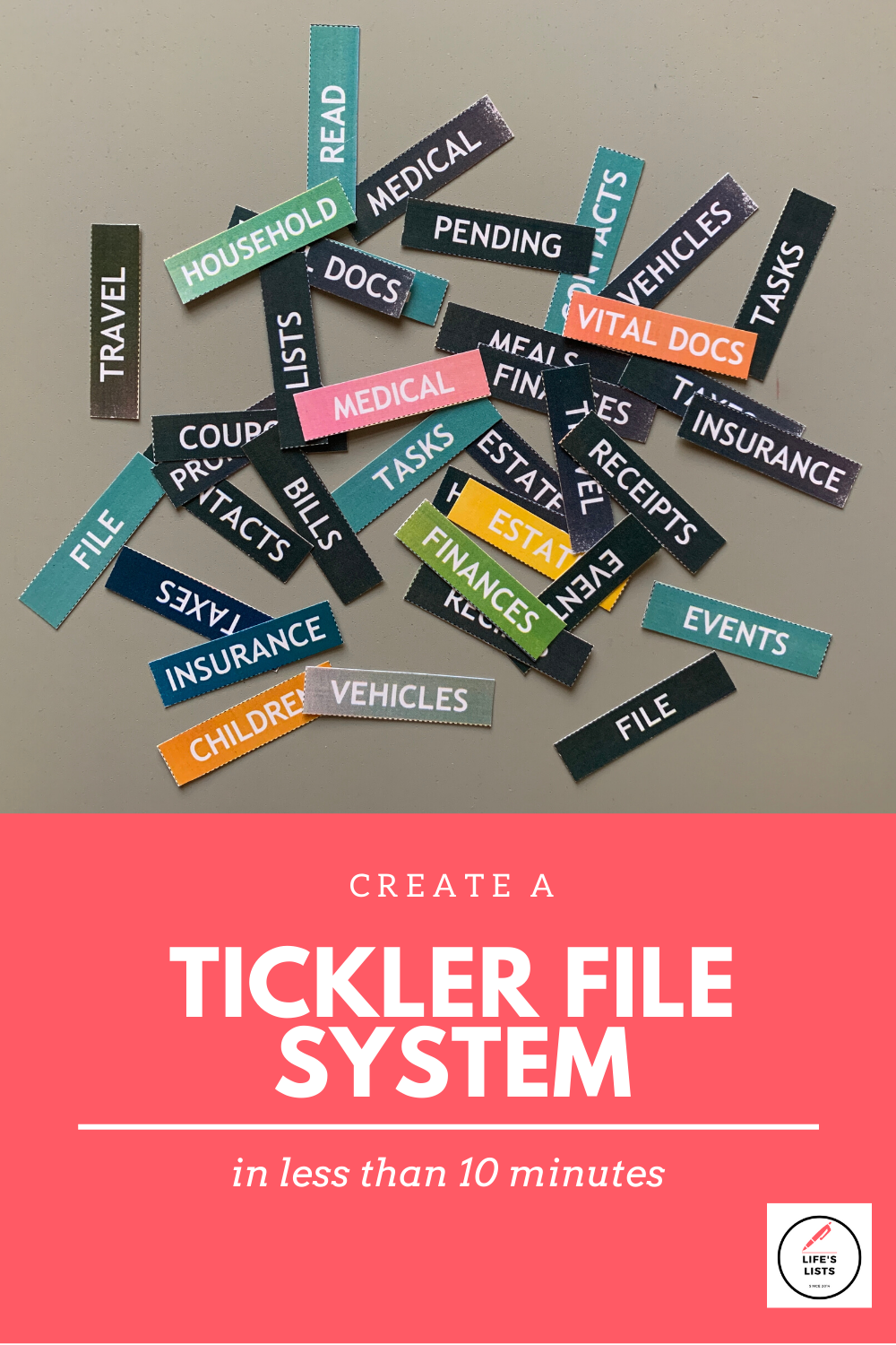 Create a Tickler File System in Less than 10 Minutes!