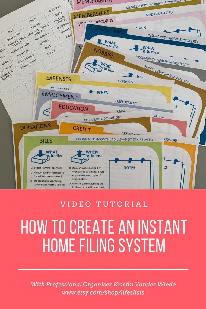 How to Create an Instant Home Filing System