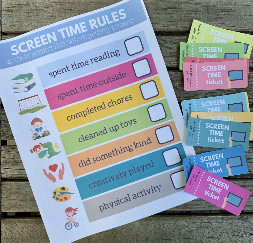 Screen Time Rewards Printable - Life's Lists Summer Activity Pack