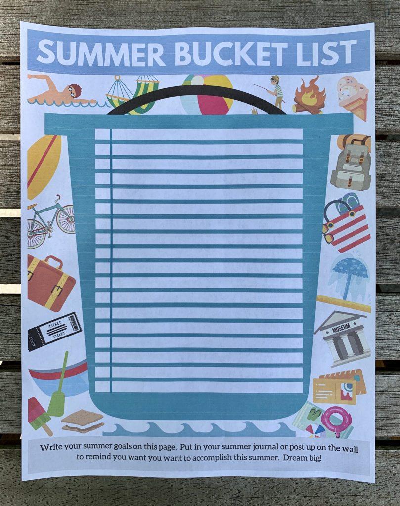 Summer Bucket List Printable - Life's Lists Summer Activity Pack