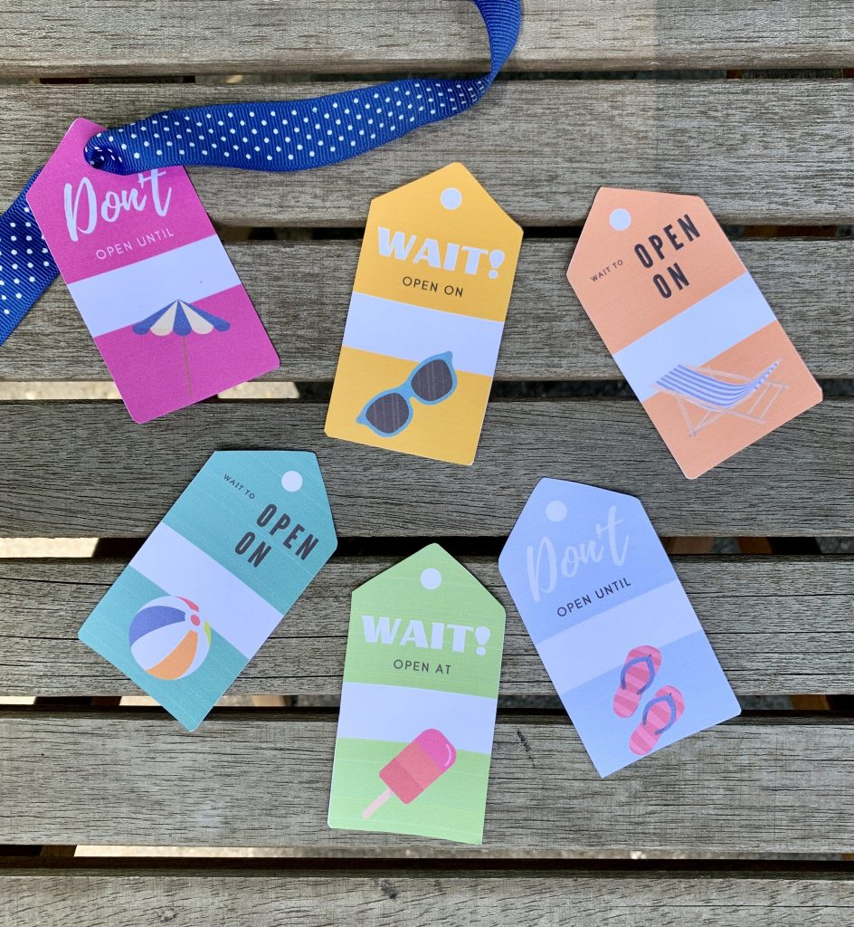 Surprise Tag Printable  - Life's Lists Summer Activity Pack