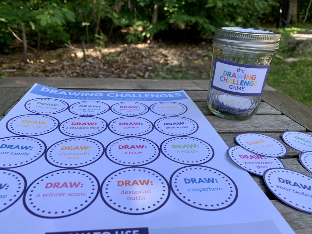 The Drawing Challenge Game -  - Life's Lists Summer Activity Pack