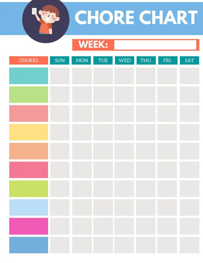 Chore Chart Printable - Life's Lists Summer Activity Pack